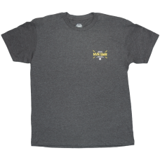 Never Summer Bolts Short Sleeve T-Shirt Charcoal Heather