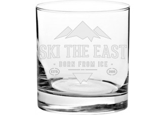 Ski the East Iced Whiskey Glass