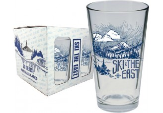 Ski the East Mystic Mountain Pint Glass  4-pack