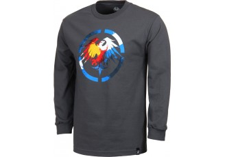 Never Summer Colorado Eagle Long Sleeve T-Shirt Charcoal Heather